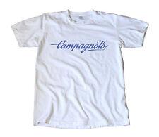 Vintage Campagnolo Blue Script Logo T-Shirt - Cycling
