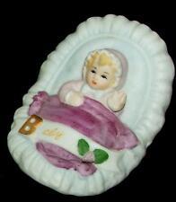 1983 Enesco Growing Up Birthday Girls Baby Ceramic Figurine