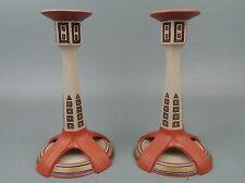 Pair Mettlach Pottery Jugendstil Candlesticks - Ben Kneavel Model 3339 1924 PT
