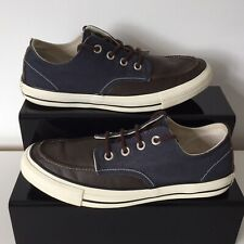 Converse All Star Navy And Brown Leather & Canvas Trainers Unisex Size UK 7