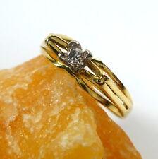 Toller Ring 55 (17,5 mm Ø) 585/14k Gold Brillant 0,06ct Diamant