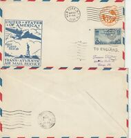 US 1939 PAN AM YANKEE CLIPPER FIRST FLIGHT US TO ENGLAND FLOWN COVER