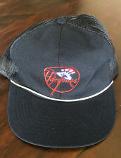 Vintage New York Yankees Hat Snapback Mesh Trucker Blue Adjustable Official MLB