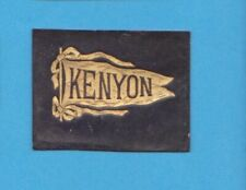 c1910s tobacco leather  KENYON  UNIVERSITY #1