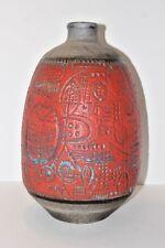 19'' Vintage 1960's CARSTENS Luxus Floor Vase West German Fat Lava Mid Century