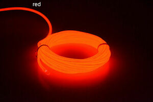 Neon Car Interior Decor Atmosphere Wire Strip Light Lamp Car Accessories Party