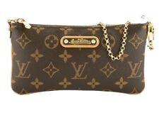 Louis Vuitton Monogram Pochette Milla PM Pouch Chain Shoulder Bag M60095 Mint