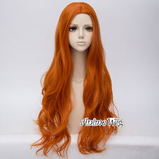 Basic Lolita 80CM Long Wavy Hair Heat Resistant Anime Synthetic Cosplay Wig+Cap