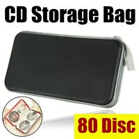 CD DVD Blu Ray 80 Sleeve Disc Hard Carry Case Holder Media Wallet Storage Bag US