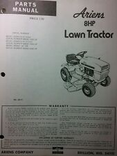 Ariens Lawn Tractor 929001 Gear, 929002 Hydrostatic 8hp & Mower Parts Manual 24p