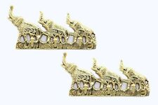 1 Set Handcrafted Elephant wall hanging key holder made of brass.
