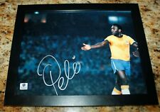 PELE BRAZIL SIGNED AUTOGRAPHED AUTHENTICATED SOCCER FRAMED 8x10 PHOTO COA