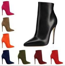 Womens High Stiletto Heel Pointy Toe Ladies Ankle Boots Party Shoes Size 34-45 L