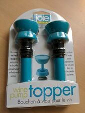 JOIE BLUE WINE PUMP TOPPER 2 IN PACK - BRAND NEW & SEALED!