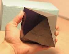 Shungite pyramid from Russia 100 mm EMF protection genuine shungit stone chakra