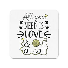 All You Need Is Love And A Cat Fridge Magnet - Funny Crazy Lady
