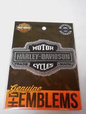 Harley Davidson Bar & Shield B&S Aufnäher Patch Emblem grau  HDEMF1015