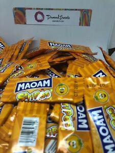 100 x HARIBO MAOAM STRIPES ORANGE FLAVOUR FRUIT CHEWS SWEETS KIDS PARTY