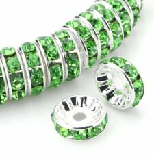 6mm 100PCS Peridot Green Spacer Beads For Swarovski Rhinestones Rondelle Crystal