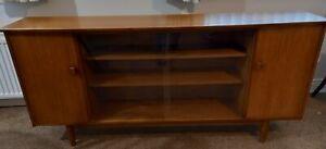 Long Slim Teak Sideboard /display Cabinet/tv Stand