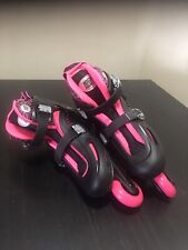 Highbounce Inline Skates Youth, Pink,Roller Blades,Adjustable Size Small 6-9
