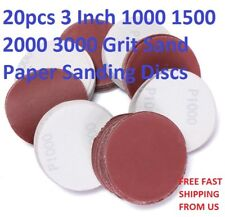 20pcs Hook and Loop 3 Inch 1000 1500 2000 3000 Grit Sand Paper Sanding Discs