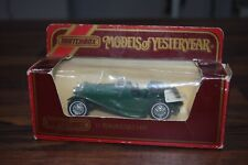 Matchbox Models Of Yesteryear Y-1 1936 Jaguar SS100 Green mint boxed