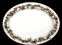 "Royal Gallery Holly And The Ivy * 16"" OVAL SERVING  PLATTER * UNUSED! **FLAW**"
