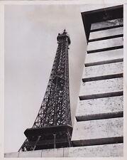 Eiffel Tower Paris France * VINTAGE 1957 TOUR EIFFEL Modernist RARE press photo