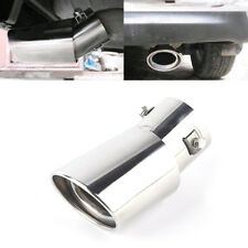 1X Universal Chrome Stainless Steel Car Rear Round Exhaust Pipe Tail Muffler Tip