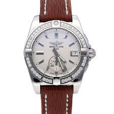 Breitling Galactic auto 36mm diamantes acero mujer reloj de pulsera