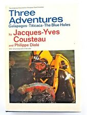 Three Adventures Galapagos-Titicaca-The Blue Hole ~ Jacques Cousteau Fine 1st Ed
