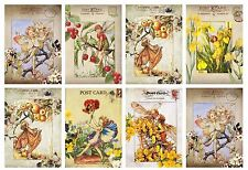 Fruit & Flower Fairies Postcard Style -  Card Toppers
