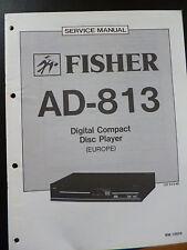 Original Service Manual Fisher Digital Compact Disc Player AD-813