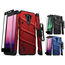For Nokia C2 Tennen, C2 Tava Holster BOLT Stand Case Military Phone Cover Glass