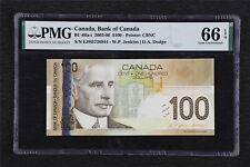 2003-06 Canada Bank of Canada BC-66a-i 100 Dollars PMG 66 EPQ Gem UNC
