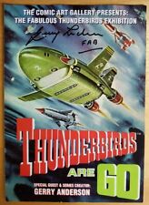 THUNDERBIRDS ARE G0 4-PAGE FLYER SIGNED BY GERRY ANDERSON WITH CERTIFICATE