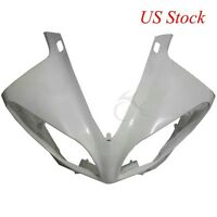 ABS Unpainted Upper Front Cowl Fairing Nose Head For YAMAHA YZF R1 2009-2011 10