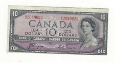 **1954 Devil's Face**Canada $10 Note, Coyne/Towers BC-32a, Ser# AD 2089623