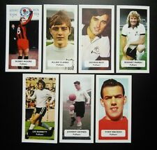 Set completo di 7 Fulham punteggio UK FOOTBALL Commercio Carte GEORGE BEST Marsh Moore