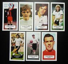 Complete set of 7 FULHAM Score UK football trade cards GEORGE BEST MARSH MOORE