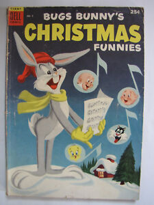 Bugs Bunny's Christmas Funnies #5 (Nov 1954, Dell) [VG+ 4.5] Dell Giant Series