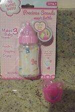 DOLL BABY BOTTLE MAKES MAGIC SOUNDS CRYING GIGGLING USE FOR BABY ALIVE + FREE PA