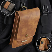 Leather Case Card Pouch Bag Belt Clip Ring Holster For Samsung Galaxy S9/S9 Plus