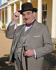 Poirot David Suchet Colour Salute 10x8 Photo
