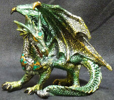 """Small  GREEN STANDING DRAGON  Jeweled    H5"""""""