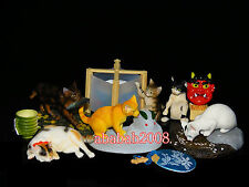 Yujin the Cat Japan Kitten figure eating & drinking gashapon (full set 6 pcs)