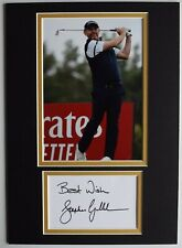 More details for stephen gallacher signed autograph a4 photo display golf sport open aftal coa