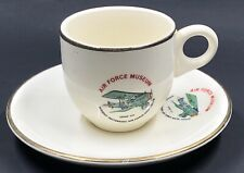 Vintage US Air Force Museum Coffee Cup & Saucer SPAD VII Wright Patt AFB Dayton