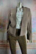 $3700 New AKRIS Beige Earth Brown Teresina Jacket Vest 12 42